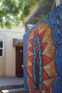 Painted Virgin at Dolores Mission Catholic Church, Boyle Heights