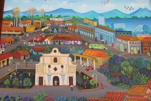 A typical Nicaraguan painting displayed in the sisters house
