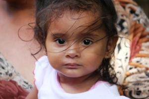 "Beautiful little girl ""Arleth"", the daughter of a health promotor"