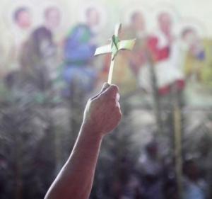 Palm Sunday at the local parish San Francisco Xavier